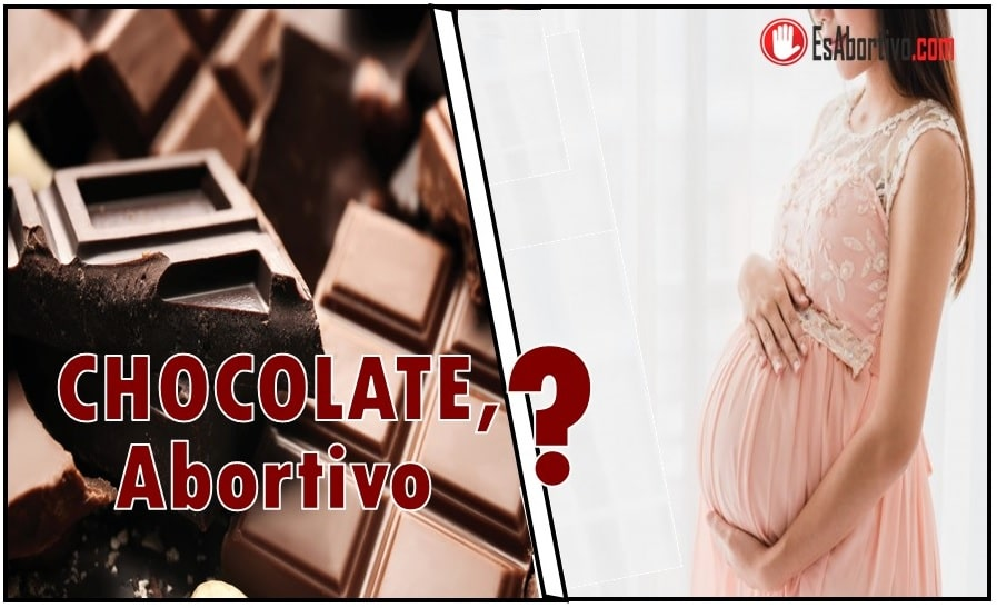 chocolate abortivo
