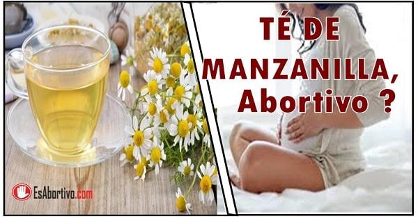 te de manzanilla abortivo